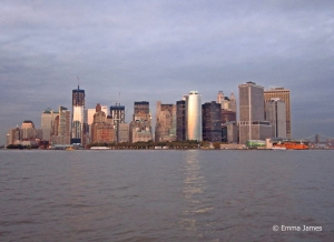 The skyline of Manhattan