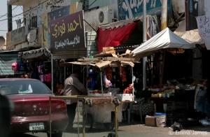 Roadside stalls in rural Jordan