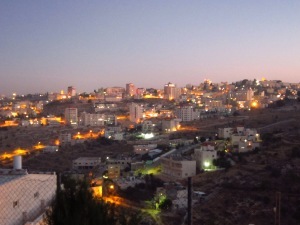 Bethlehem twinkles at night and the sunsets over the desert are stunning.