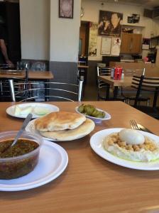 Travel Israel West Bank Middl East - Hummus in Teami Restaurant Jerusalem